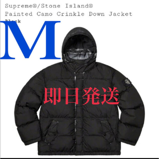 シュプリーム(Supreme)のPainted Camo Crinkle Down Jacket Mサイズ(ダウンジャケット)