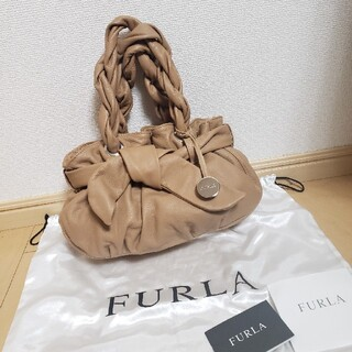 Furla - 美品 FURLA りぼん巾着ハンドバッグ