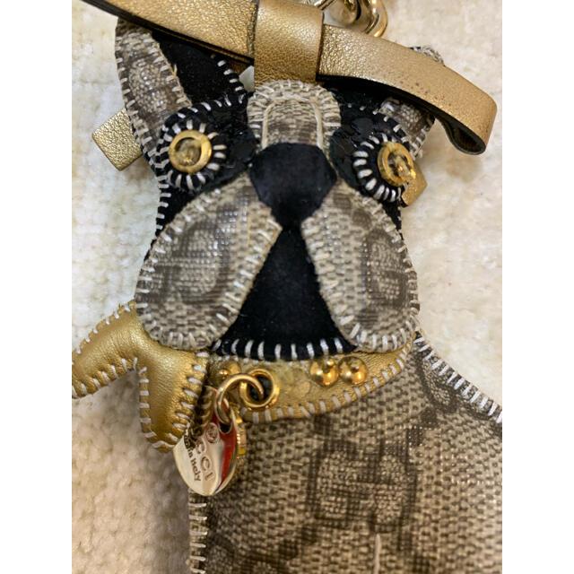 Gucci(グッチ)のグッチ フレンチブルドッググッチョリキーホルダー REROY  犬 レディースのファッション小物(キーホルダー)の商品写真