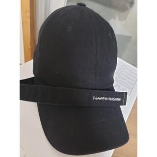 PEACEMINUSONE - PEACEMINUSONEロングベルトキャップ 黒