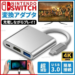 任天堂スイッチ Nintendo Switch TypeC  HDMIアダプタ(その他)