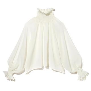 GRL - GRL シャーリングハイネックフリルトップス  人気 韓国ファッション ブラウス