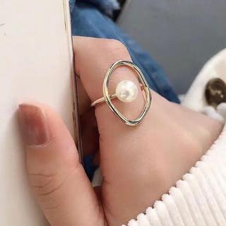 アメリヴィンテージ(Ameri VINTAGE)の【再入荷】新品インポート♡ゴールド パール リング 指輪(リング(指輪))