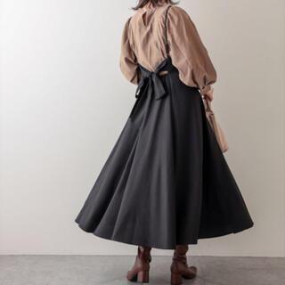 natural couture - ナチュラルクチュール BACKリボンキャミワンピース ブラック