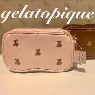 gelato pique - 新品 ジェラートピケ テディベア刺繍ポーチ