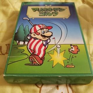ファミリーコンピュータ(ファミリーコンピュータ)の【箱・取説付 動作確認済】Nintendo マリオオープンゴルフ ファミコン版(家庭用ゲームソフト)