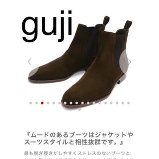 クロケットアンドジョーンズ(Crockett&Jones)の【新古品!】guji グジ サイドゴアブーツ WH(ブーツ)