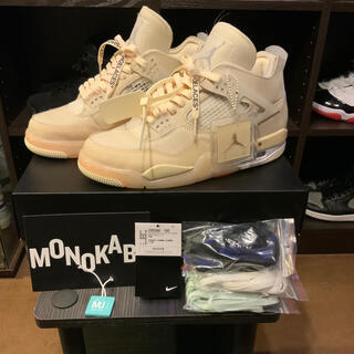 ナイキ(NIKE)のOff-White × Nike Air Jordan 4 sail 27cm(スニーカー)