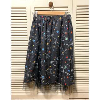 スカラー(ScoLar)のscolar 膝丈チュールスカート(ひざ丈スカート)