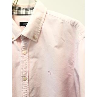 バーバリーブラックレーベル(BURBERRY BLACK LABEL)のバーバリーブラックレーベル ホース刺繍 オックスフォードシャツ ピンク 3(シャツ)