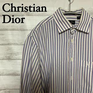 クリスチャンディオール(Christian Dior)のChristian Dior 長袖 ストライプシャツ メンズ USA 古着(シャツ)