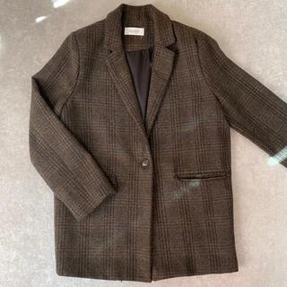 スタイルナンダ(STYLENANDA)のスーツジャケット テーラージャケット ブラウン チェック(テーラードジャケット)