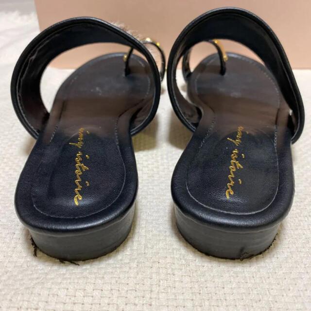 eimy istoire(エイミーイストワール)の最終お値下げ(eimy istoire)ゴールドポイントハラコサンダル Lサイズ レディースの靴/シューズ(サンダル)の商品写真