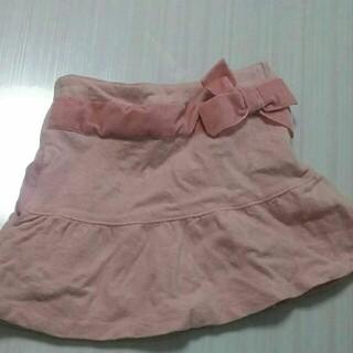 ベベ(BeBe)のbebe スカート 110 ピンク リボン 冬生地(スカート)