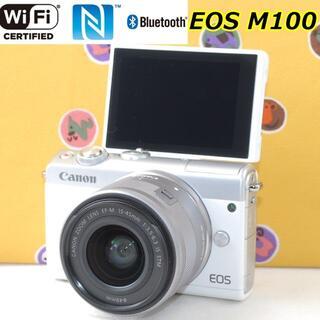 Canon - 自撮り◆Bluetooth&Wi-Fi 超高画質★CANON EOS M100