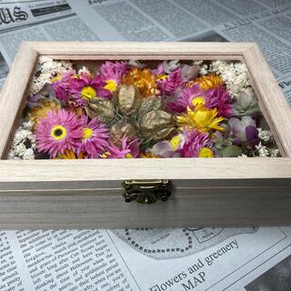 お値下げしました ドライフラワーBOX③ ハンドメイド 素敵な宝石箱(ドライフラワー)