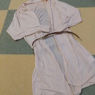 プロポーションボディドレッシング(PROPORTION BODY DRESSING)のプロポーションボディドレッシング ロングカーディガン ピンクベージュ(カーディガン)
