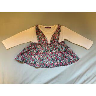 スタジオミニ(STUDIO MINI)のスタジオミニ ロンT 花柄 90(Tシャツ/カットソー)