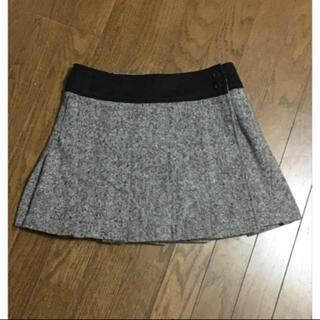 フラワー(flower)の古着 スカート ラップスカート ウールスカート ツイードスカート(ミニスカート)