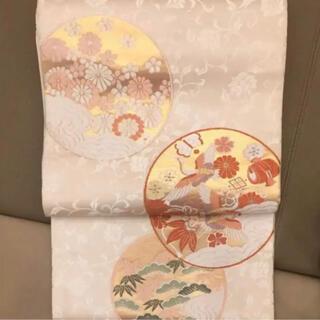 ニシジン(西陣)の美しすぎる袋帯 白無垢地 白地紋 西陣織 フォーマル(帯)