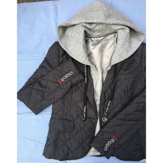 ダブルスタンダードクロージング(DOUBLE STANDARD CLOTHING)のフード付きキルティングジャケット(テーラードジャケット)