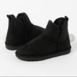 ニコアンド(niko and...)の未使用 niko and...(ニコアンド) ムートンブーツ ブラック(ブーツ)