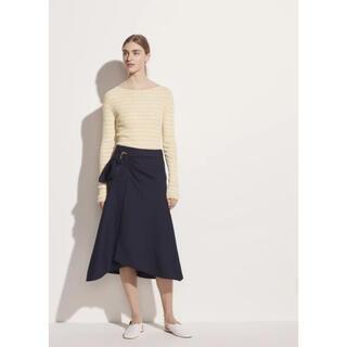 ビンス(Vince)の❤️Vince 2020新作 新品 紺、イエロー2色スカート綺麗(ひざ丈スカート)