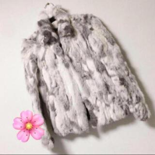 ロキエ(Lochie)の古着 コート ファーコート ラビットファー リアルファー(毛皮/ファーコート)