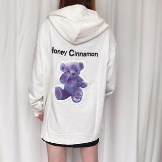 ハニーシナモン(Honey Cinnamon)のHONEY CINNAMON unisex タイダイTEDDY ZIPパーカー(パーカー)