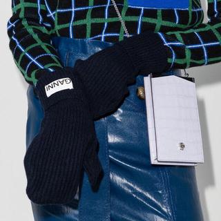 アクネ(ACNE)の新品未使用 GANNI リブニット ミトン グローブ 手袋(手袋)