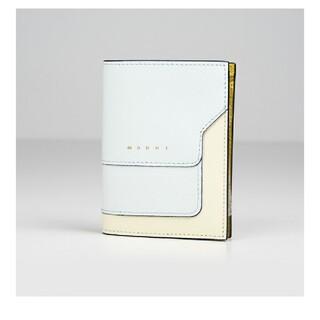 マルニ(Marni)のマルニ 二つ折り財布 ホワイト×パステルブルー(財布)