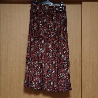 グローブ(grove)のgrove 花柄プリントスカート(ロングスカート)