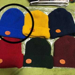 イルビゾンテ(IL BISONTE)のイルビゾンテ ニット帽 画像❷ ブルー 正規品 1点の価格 まとめ買い(ニット帽/ビーニー)