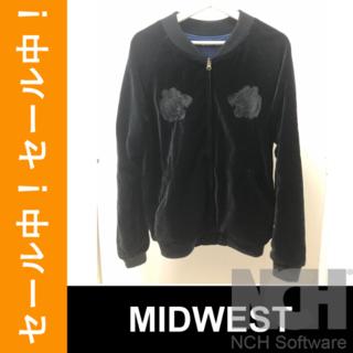 ミッドウエスト(MIDWEST)の㉙【セール中】MID WEST/603MID/黒/ベロア/スカジャン/L/MA-(ブルゾン)