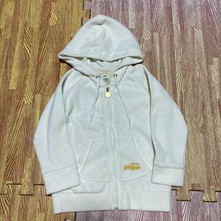 ジェラートピケ(gelato pique)のジェラートピケXXS90〜100パーカーベロア白色シロ子供女の子パジャマ(ジャケット/上着)