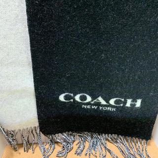 コーチ(COACH)のコーチマフラー ブラック、ホワイト(マフラー)