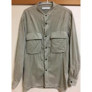 ユナイテッドアローズ(UNITED ARROWS)のユナイテッドアローズ購入 ベージュコーデュロイドロップシャツ美品(シャツ)