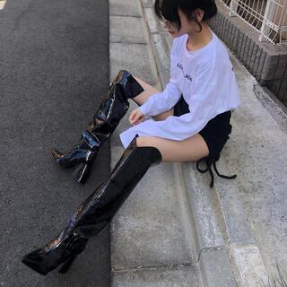 バブルス(Bubbles)のmelt the lady boots black(ブーツ)