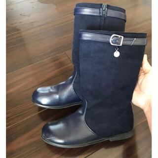 タルティーヌ エ ショコラ(Tartine et Chocolat)のタルティーヌエショコラ  ブーツ ネイビー 19cm(ブーツ)
