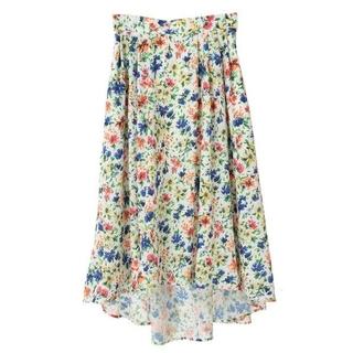 トランテアンソンドゥモード(31 Sons de mode)の《31 Sons de mode》フィッシュテール 小花柄スカート 36(ひざ丈スカート)