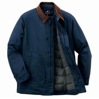 モンベル(mont bell)のモンベル キャンバスカントリージャケット 濃紺 ダークネイビー Sサイズ(ダウンジャケット)