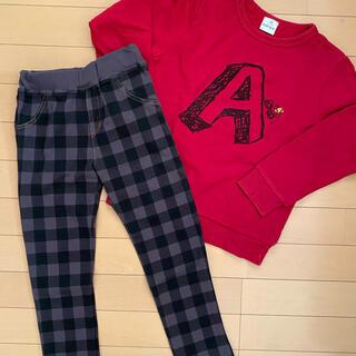 ベベ(BeBe)の130☆べべ SLAP SLIPトレーナー&美品パンツ(その他)
