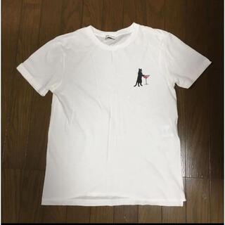 サンローラン(Saint Laurent)のサンローラン 猫 ワイン Tシャツ SAINT LAURENT ネコ レディース(Tシャツ(半袖/袖なし))