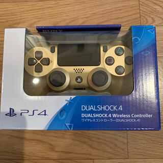 プレイステーション4(PlayStation4)のDUALSHOCK4 CUH-ZCT2J PS4純正コントローラー ゴールド(その他)