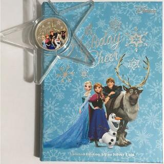 ディズニー(Disney)のアナと雪の女王「ホリデイ・チア」1/2オンス銀貨プルーフ クリスマスオーナメント(その他)