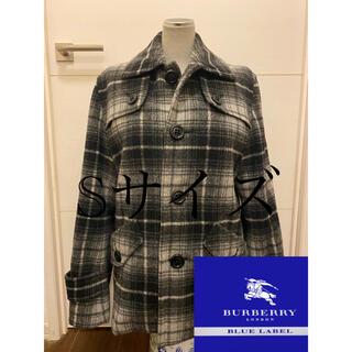 バーバリーブルーレーベル(BURBERRY BLUE LABEL)のBURBERRY ブルーレーベル コート チェック 三陽商会 Sサイズ(ピーコート)