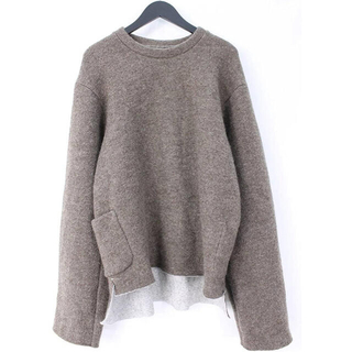 サンシー(SUNSEA)のSUNSEA W face wool Pullover 16AW(スウェット)