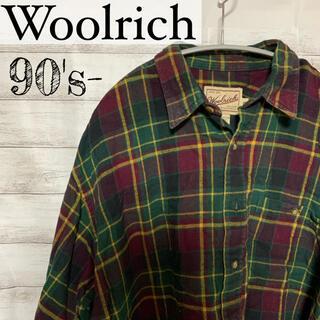 ウールリッチ(WOOLRICH)のウールリッチ woolrich  90s メンズ シャツ チェック used(シャツ)