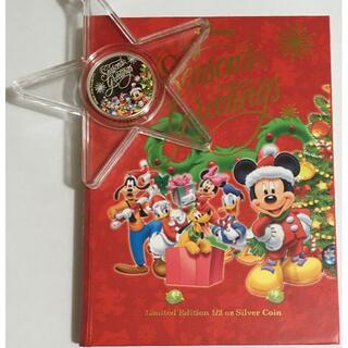 ディズニー(Disney)のミッキー「シーズングリーティング」1/2oz銀貨プルーフ クリスマスオーナメント(その他)