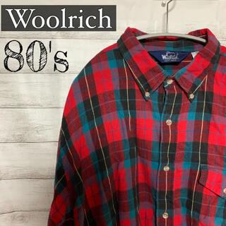 ウールリッチ(WOOLRICH)の80s ウールリッチ woolrich ヴィンテージ メンズ シャツ used(シャツ)